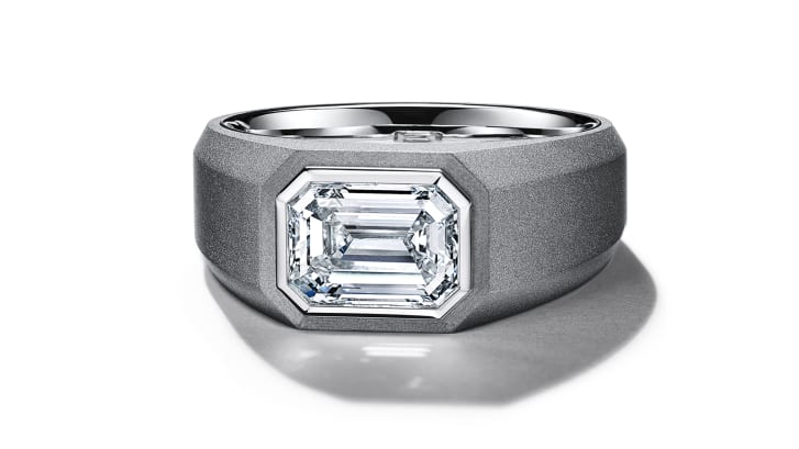Men's engagement rings are now available from Tiffany & Co